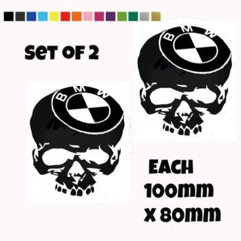 BMW Skull Stickers Car Motorbike Vinyl Decals